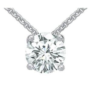 2 Cts. G Si1 Diamond Pendant Necklace With Chain N